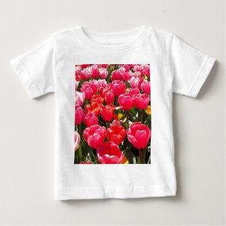 Pink Tulip Garden Baby T-Shirt