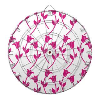 Pink Tulip Graphic Dartboards