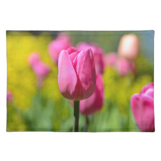 Pink Tulip in the Garden Placemat