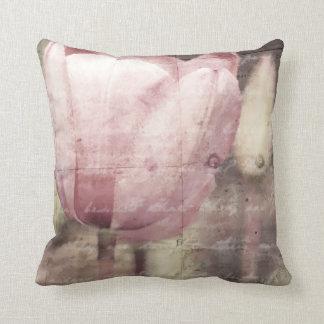 Pink Tulip Inspiration Throw Pillow