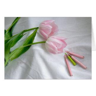 "Pink Tulip jjhelene 5""x7"" card envelope included"