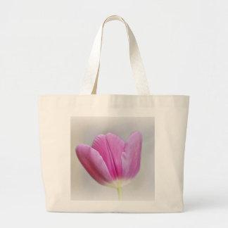 Pink Tulip Large Tote Bag