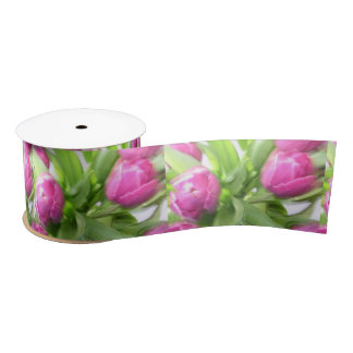 Pink Tulip Ribbon Satin Ribbon