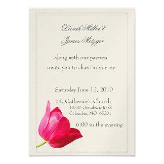 Pink tulip Wedding Invitation