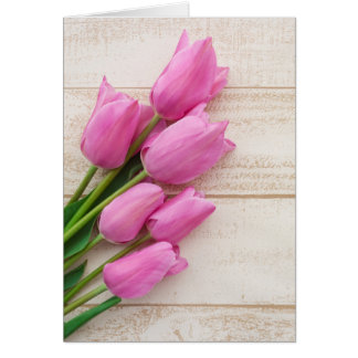 pink tulips | birthday | mothersday | card