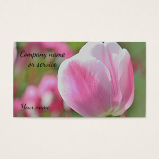 Pink Tulips Business Card