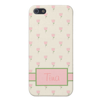 Pink Tulips iPhone 5 Cases