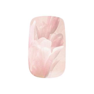 Pink Tulips Minx Nail Art