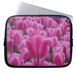 Pink Tulips Neoprene Laptop Sleeve 10 inch