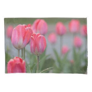 Pink tulips pillowcase
