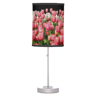 Pink Tulips Spring Design Home Decor Table Lamp