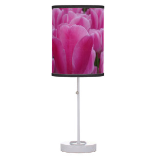 Pink Tulips Table Lamp