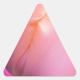Pink Tulips Triangle Sticker