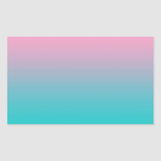Pink & Turquoise Ombre