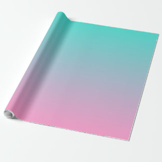 Pink Turquoise Ombre Wrapping Paper