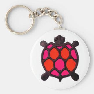 Pink Turtles Design Keychain