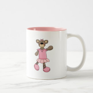 Pink Tutu Ballerina Ballet Bear Mugs