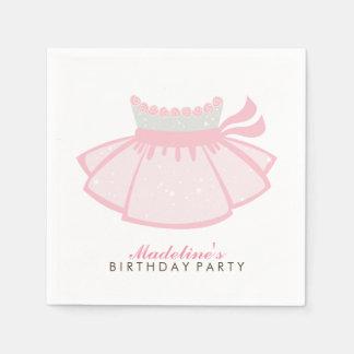 Pink Tutu Girl's Birthday Party Disposable Napkins