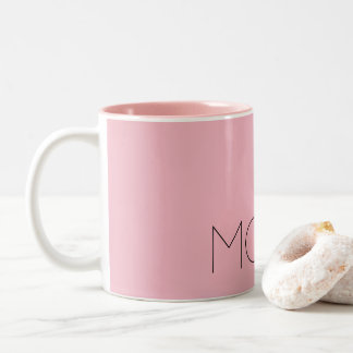 Pink two-tone mug