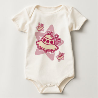 Pink UFOs Baby Baby Bodysuit