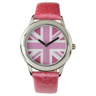 pink uk flag,union jack,the union flag watch
