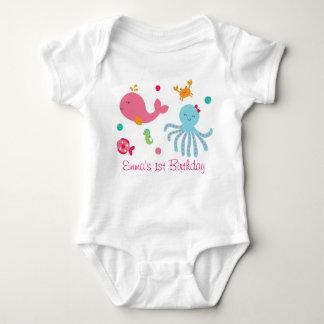 Pink Under the Sea Baby Bodysuit