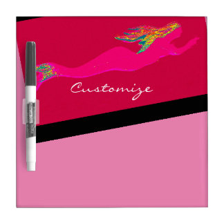 pink underwater mermaid dry erase board