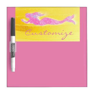 pink underwater mermaid dry erase boards