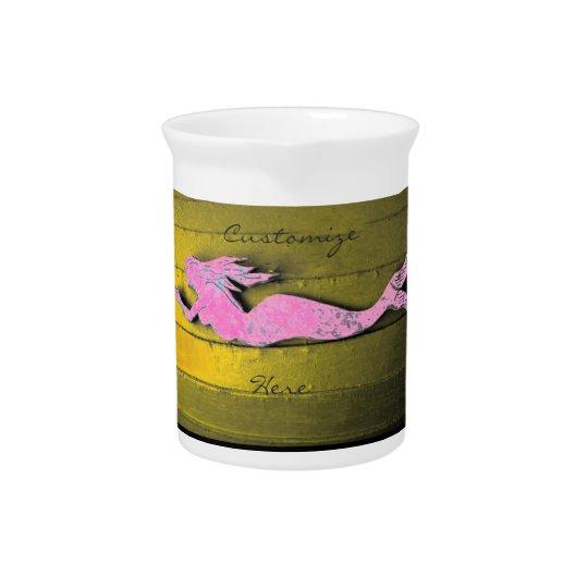 pink underwater mermaid pitcher