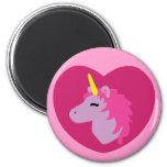 Pink Unicorn 2 Inch Round Magnet