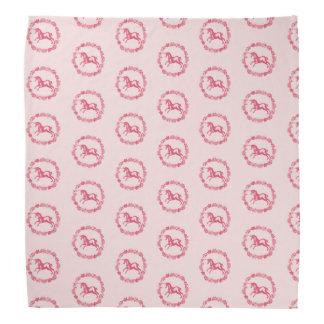 Pink unicorn and flowers bandana