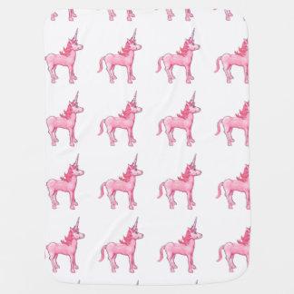 Pink Unicorn Baby Blankets