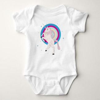 Pink Unicorn Baby Bodysuit