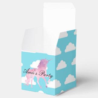 Pink Unicorn Girls Birthday Party Favor Box