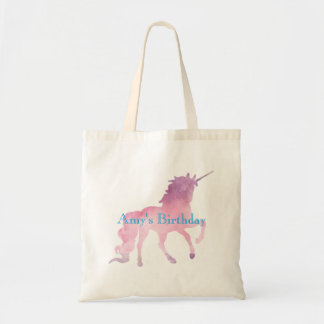Pink Unicorn Girls Birthday Party Tote Bag
