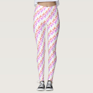 Pink Unicorn Horn Horse Bright Ombre Prismatic Leggings