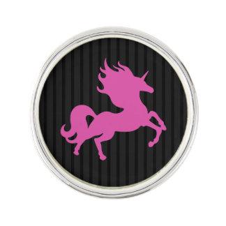 Pink Unicorn on Black Background (IPU) Lapel Pin