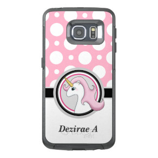 Pink Unicorn Polka Dot Samsung Galaxy S6 Edge Case