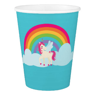 Pink Unicorn Rainbow Paper Cups Paper Cup
