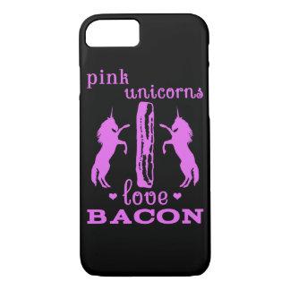 Pink Unicorns Love Bacon iPhone 7 Case