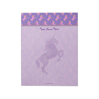 Pink Unicorns Notepad