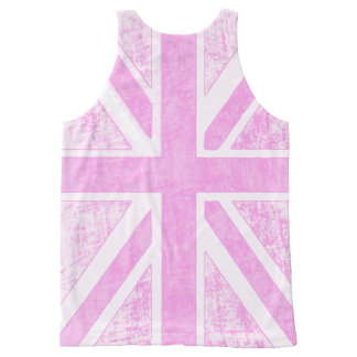 Pink Union Jack Distressed