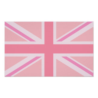Pink Union Jack/Flag Poster