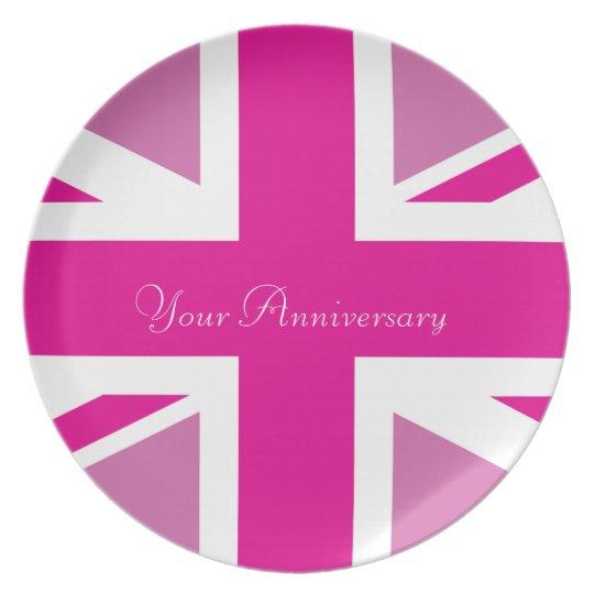 Pink Union Jack Plate