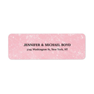 Pink Unique Retro Style Classical Family Sheet Return Address Label