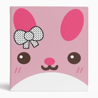 Pink Usagi Bunny Rabbit Vinyl Binder