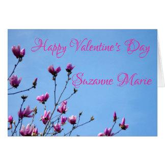 Pink Valentine Flowers Card