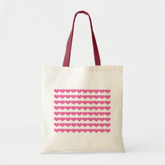 Pink Valentine Hearts Pattern Tote Bag