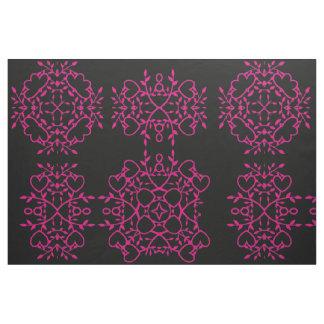 Pink Valentine Hearts Print Fabric