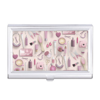 Pink Vanity Table Business Card Case